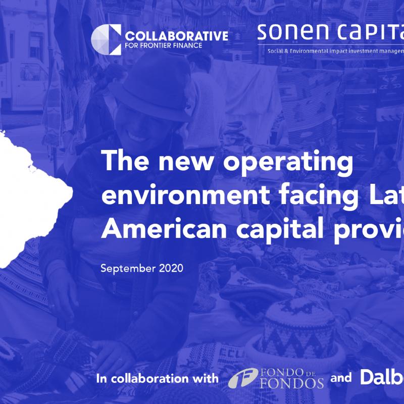 The new operating environment facing Latin American capital providers  September 2020